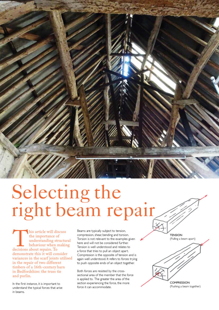 Matt Groves article for Listed Heritage - Selecting the right beam repair