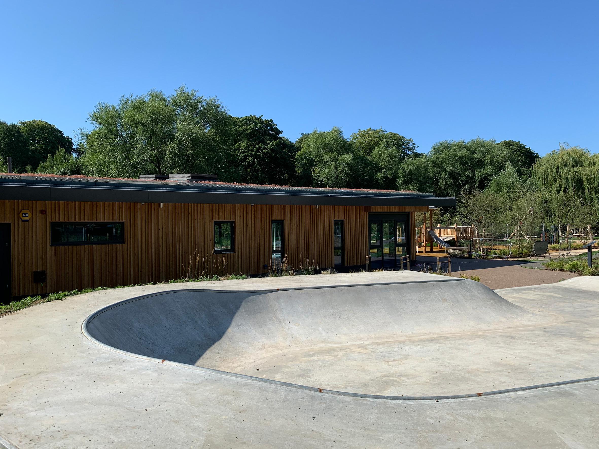 Oxhey Park skateboarding facility